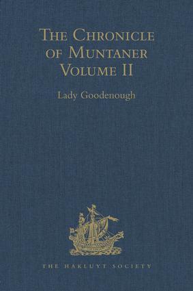 The Chronicle of Muntaner: Volume II, 1st Edition (Hardback) book cover