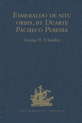 Esmeraldo de situ orbis, by Duarte Pacheco Pereira: 1st Edition (Hardback) book cover