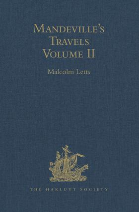 Mandeville's Travels: Volume II Texts and Translations, 1st Edition (Hardback) book cover