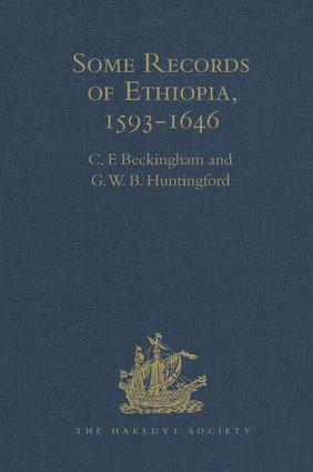 Some Records of Ethiopia, 1593-1646: Being Extracts from The History of High Ethiopia or Abassia by Manoel de Almeida Together with Bahrey's History of the Galla book cover
