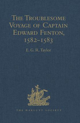 The Troublesome Voyage of Captain Edward Fenton, 1582-1583: 1st Edition (Hardback) book cover