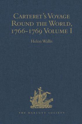 Carteret's Voyage Round the World, 1766-1769: Volume I, 1st Edition (Hardback) book cover