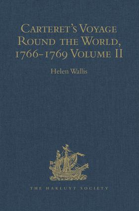 Carteret's Voyage Round the World, 1766-1769: Volume II book cover