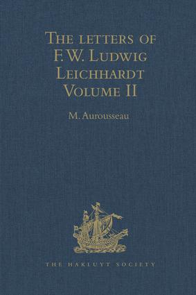 The Letters of F.W. Ludwig Leichhardt: Volume II, 1st Edition (Hardback) book cover