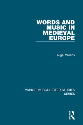 Words and Music in Medieval Europe: 1st Edition (Hardback) book cover