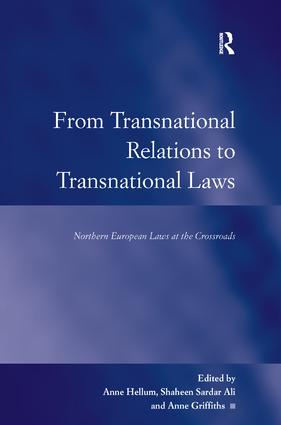 From Transnational Relations to Transnational Laws: Northern European Laws at the Crossroads, 1st Edition (Hardback) book cover