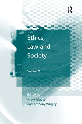 Ethics, Law and Society: Volume V, 1st Edition (Hardback) book cover