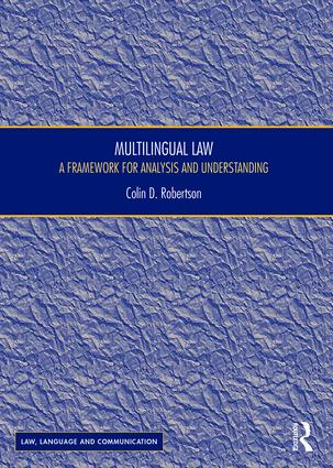 Multilingual Law: A Framework for Analysis and Understanding book cover
