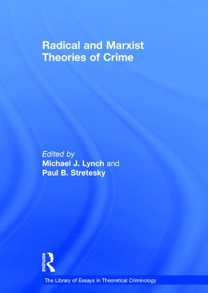 Radical and Marxist Theories of Crime book cover