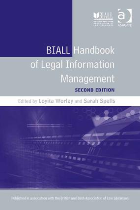 BIALL Handbook of Legal Information Management book cover