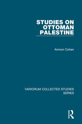 Studies on Ottoman Palestine: 1st Edition (Hardback) book cover