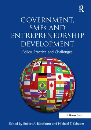 Government, SMEs and Entrepreneurship Development: Policy, Practice and Challenges, 1st Edition (Paperback) book cover