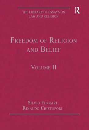 Freedom of Religion and Belief: Volume II, 1st Edition (Hardback) book cover