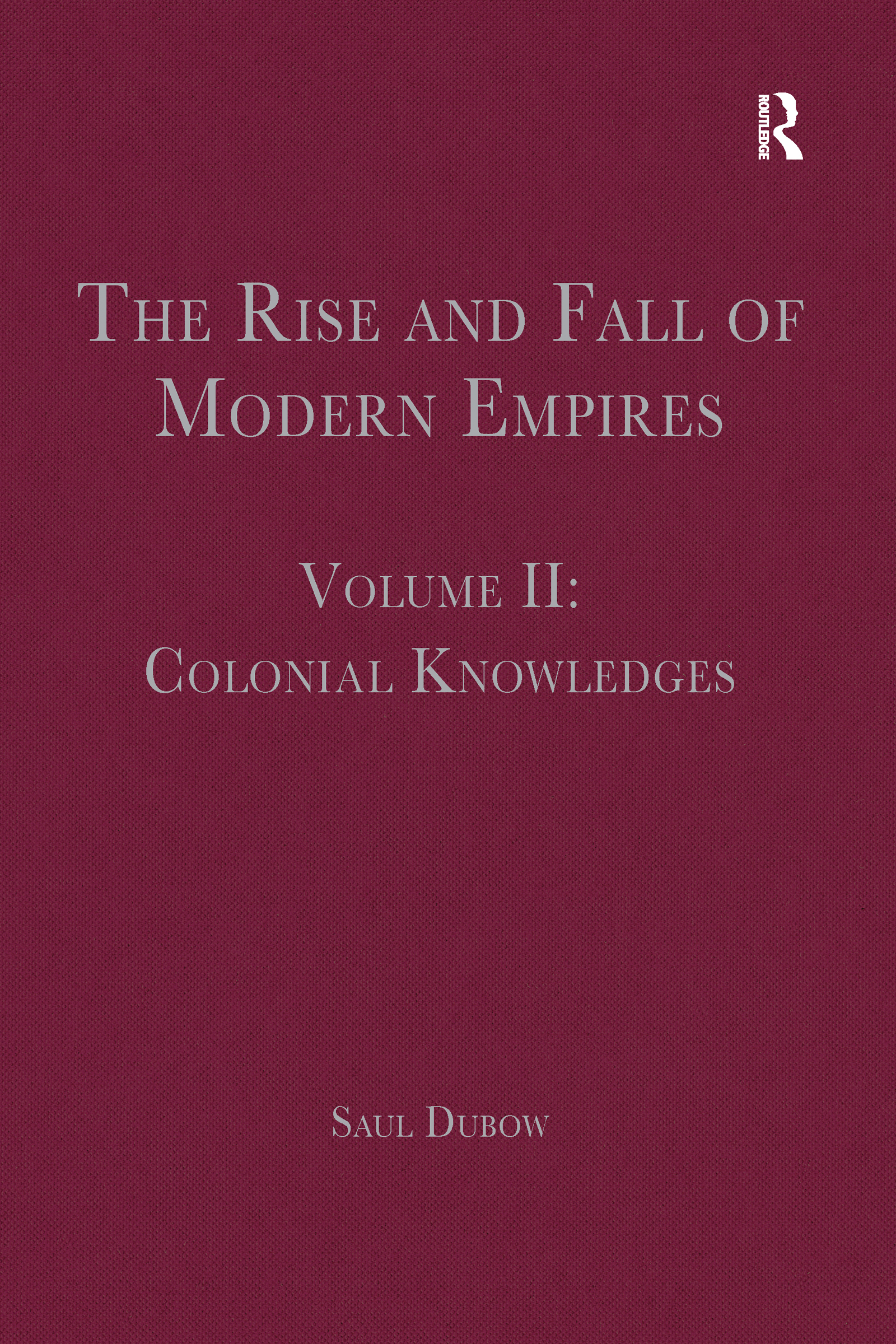 The Rise and Fall of Modern Empires, Volume II: Colonial Knowledges book cover