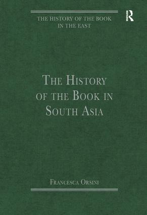 The History of the Book in South Asia book cover