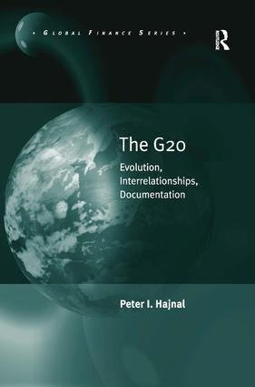 The G20: Evolution, Interrelationships, Documentation book cover