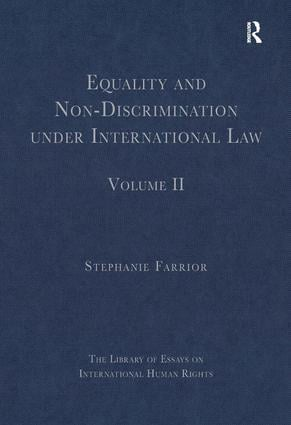 Equality and Non-Discrimination under International Law