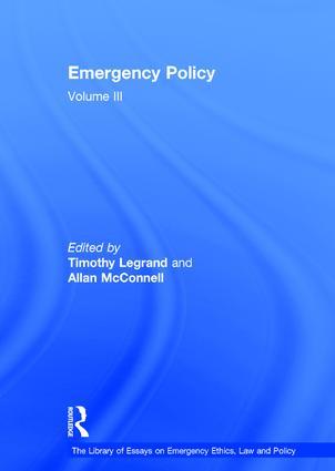 Emergency Policy: Volume III (Hardback) book cover