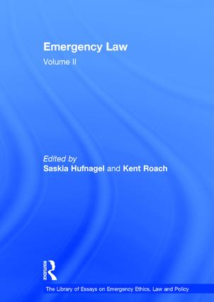 Emergency Law: Volume II book cover
