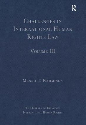 Challenges in International Human Rights Law: Volume III, 1st Edition (Hardback) book cover