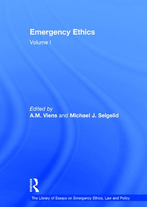 Emergency Ethics: Volume I book cover