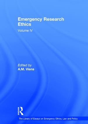 Emergency Research Ethics: Volume IV book cover