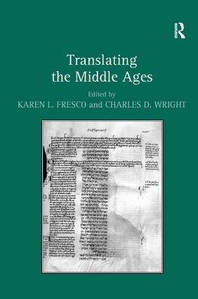 Translating the Middle Ages (Hardback) book cover