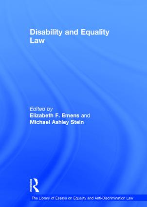 Disability and Equality Law book cover