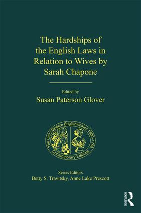 The Hardships of the English Laws in Relation to Wives by Sarah Chapone (Hardback) book cover