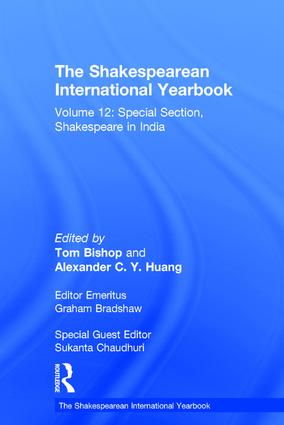 The Shakespearean International Yearbook: Volume 12: Special Section, Shakespeare in India book cover