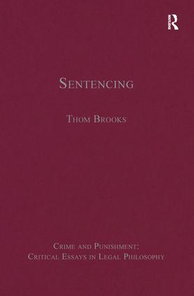 Sentencing: 1st Edition (Hardback) book cover
