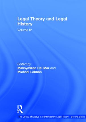Legal Theory and Legal History: Volume IV book cover