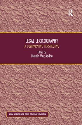 Legal Lexicography