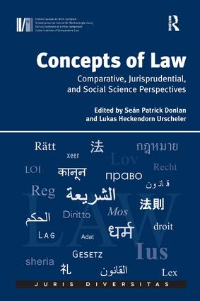 Concepts of Law: Comparative, Jurisprudential, and Social Science Perspectives, 1st Edition (Hardback) book cover
