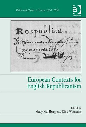 European Contexts for English Republicanism: 1st Edition (Hardback) book cover