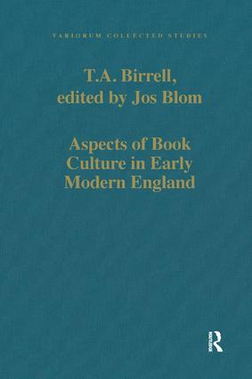 Aspects of Book Culture in Early Modern England book cover