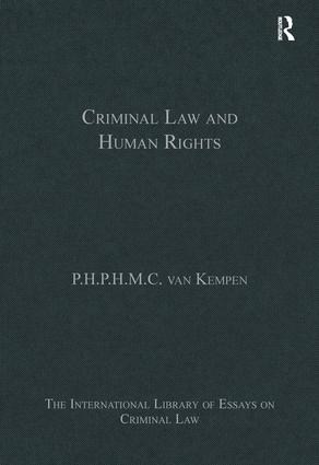 Criminal Law and Human Rights: 1st Edition (Hardback) book cover