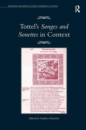Tottel's Songes and Sonettes in Context book cover