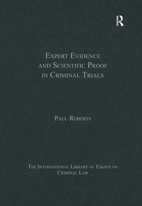 Expert Evidence and Scientific Proof in Criminal Trials book cover