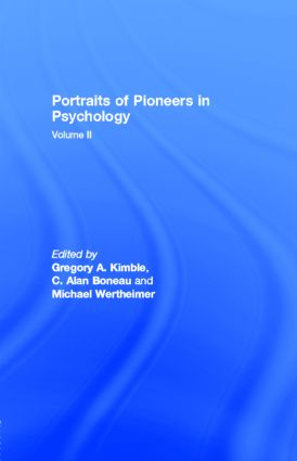 Portraits of Pioneers in Psychology: Volume II book cover