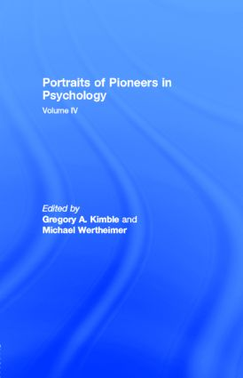 Portraits of Pioneers in Psychology: Volume IV book cover