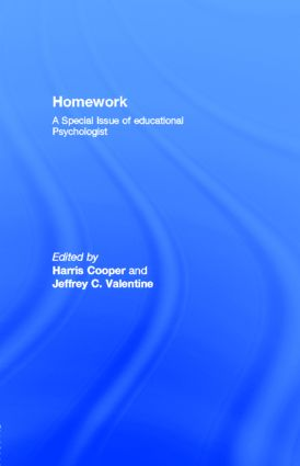Homework: A Special Issue of educational Psychologist, 1st Edition (Paperback) book cover
