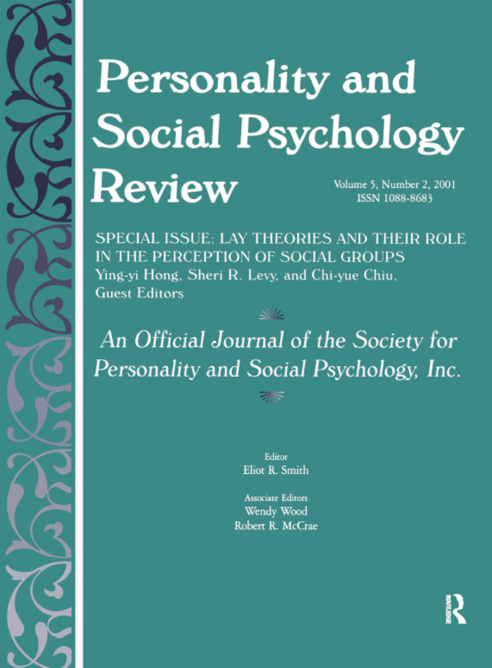 Lay Theories and Their Role in the Perception of Social Groups: A Special Issue of Personality and Social Psychology Review (Paperback) book cover