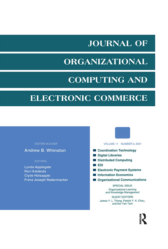 Organizational Learning and Knowledge Management: A Special Issue of the journal of Organizational Computing and Electronic Commerce, 1st Edition (Paperback) book cover