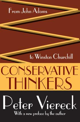 Conservative Thinkers: From John Adams to Winston Churchill, 1st Edition (Paperback) book cover