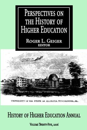 Perspectives on the History of Higher Education: Volume 25, 2006, 1st Edition (Paperback) book cover
