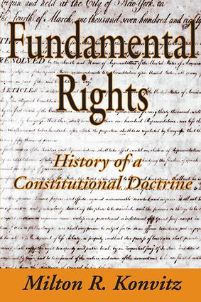 Fundamental Rights: History of a Constitutional Doctrine, 1st Edition (Paperback) book cover