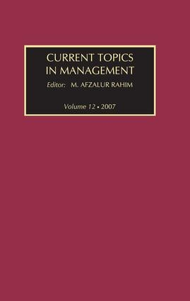 Current Topics in Management: Volume 12 book cover