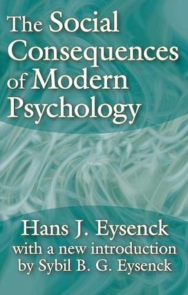 The Social Consequences of Modern Psychology: 1st Edition (Paperback) book cover