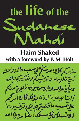 The Life of the Sudanese Mahdi: 1st Edition (Paperback) book cover